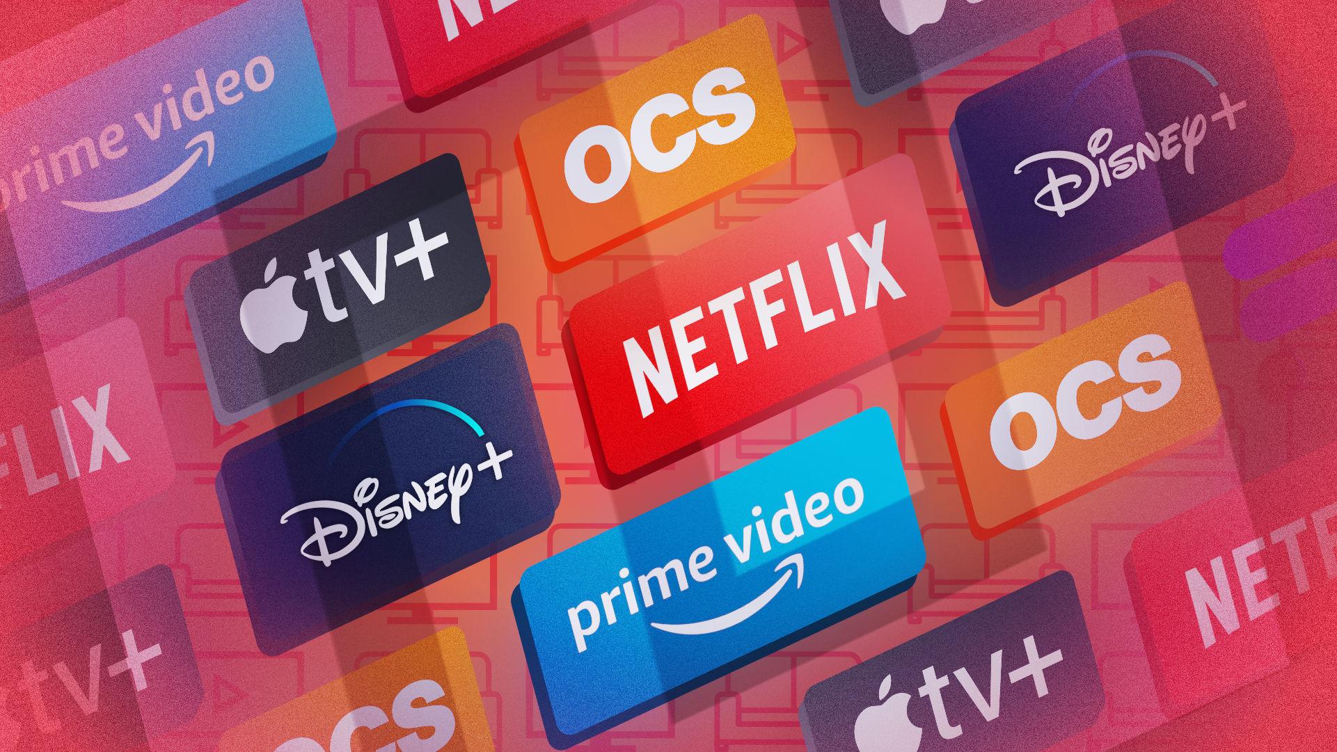 Netflix, Amazon Prime, Disney Plus